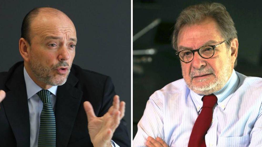 Foto: Javier Monzón y Juan Luis Cebrián.