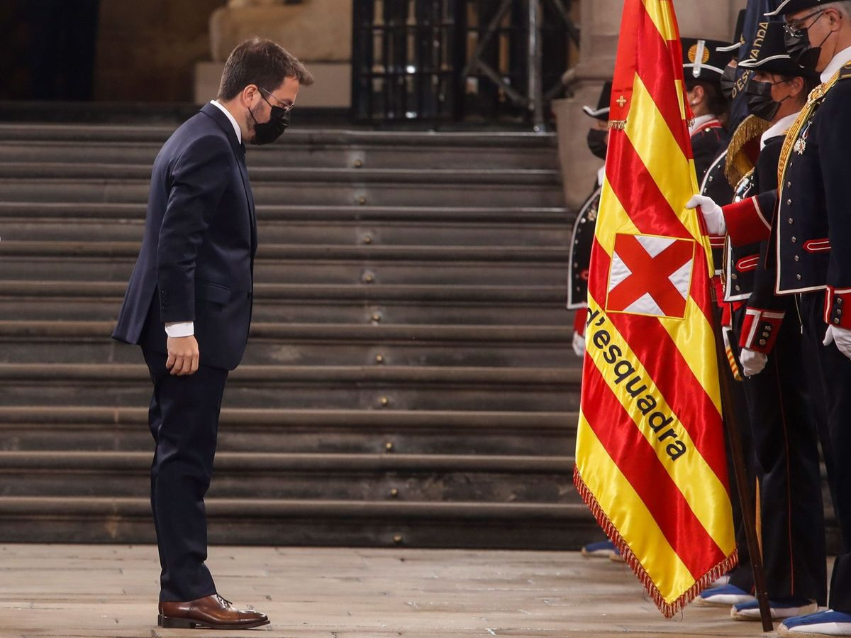 Foto: Pere Aragonès toma posesión como 'president'. (EFE)