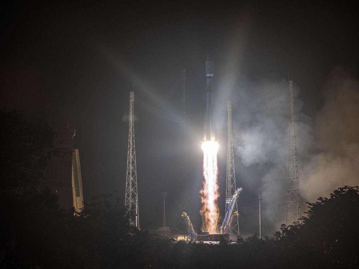 Foto: El cohete europeo Soyuz. (EFE)