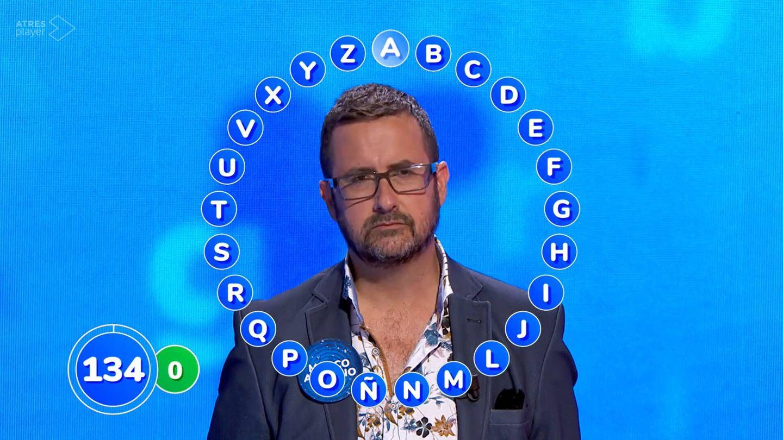 Marco Antonio, en 'Pasapalabra'. (Antena 3)