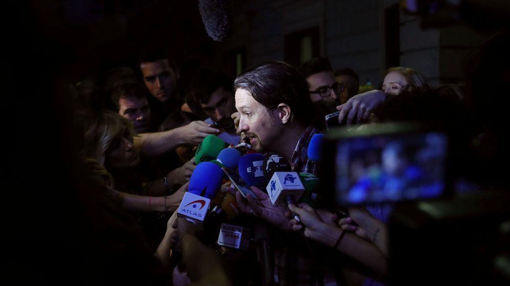 Foto: Pablo Iglesias, este viernes en el Congreso