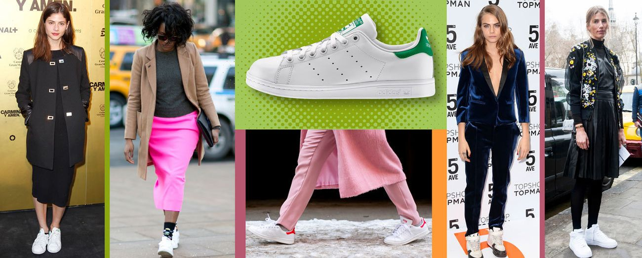 Foto: ¿Cómo llevan Cara Delevingne y Jessica Alba sus zapatillas blancas? Ideas muy frescas para combinarlas
