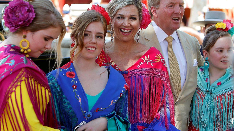 La familia real de Holanda en la Feria de Sevilla. (EFE)
