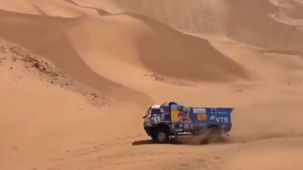 Expulsan a un camión del Dakar por atropellar a un aficionado y no auxiliarle