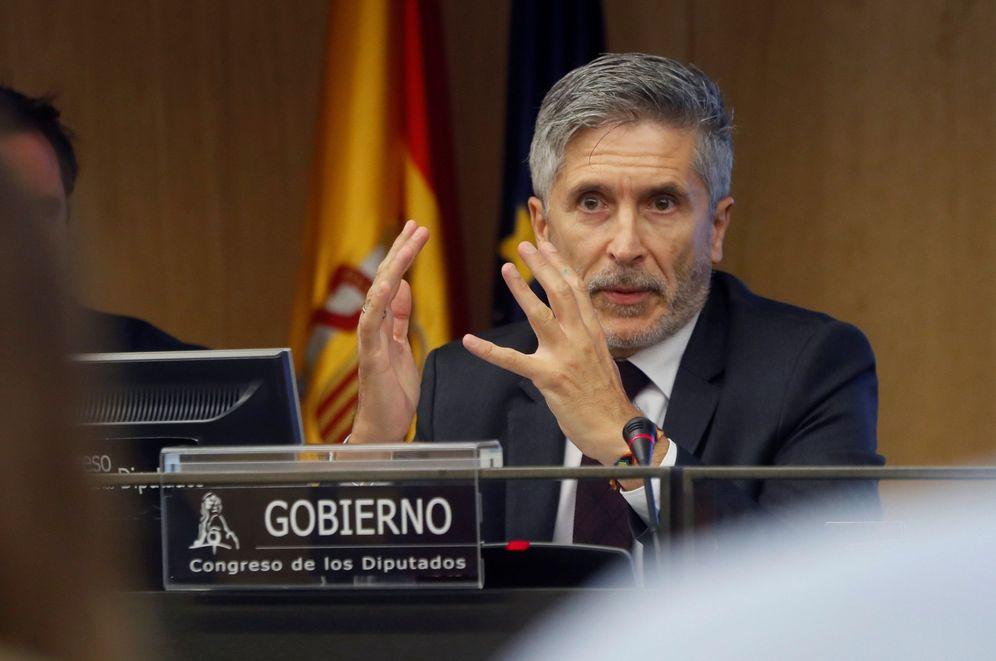 Foto: El ministro del Interior, Fernando Grande-Marlaska, el pasado 29 de agosto en el Congreso. (EFE)