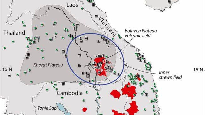 El lugar exacto del impacto del meteorito. (Sieh et al./PNAS 2019)