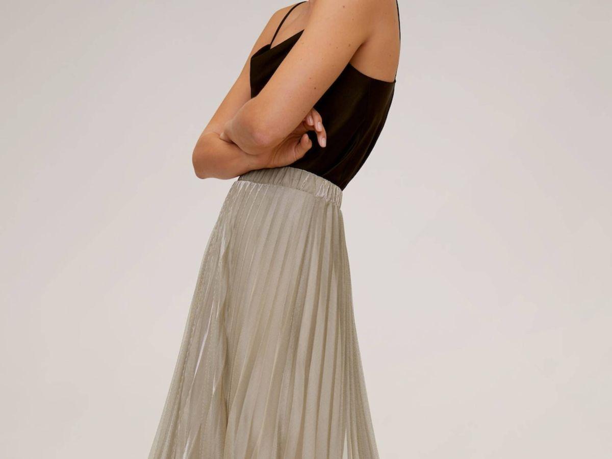 Foto: La falda de Mango Outlet. (Cortesía)