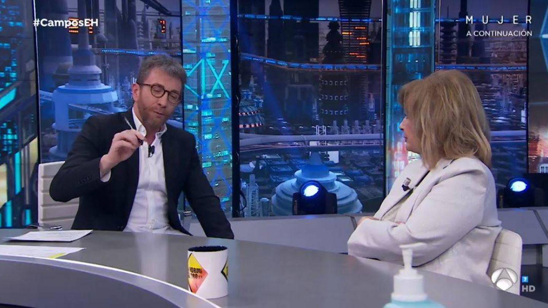 Pablo Motos y María Teresa Campos, en 'El hormiguero'. (Atresmedia)