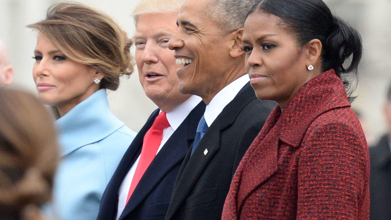 Los Obama, el día en que Donald Trump juró el cargo de presidente. (Getty)