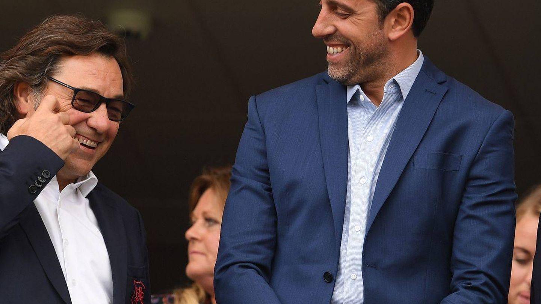 Raül Sanllehí, junto a Edu, ex jugador del Arsenal y ahora director deportivo