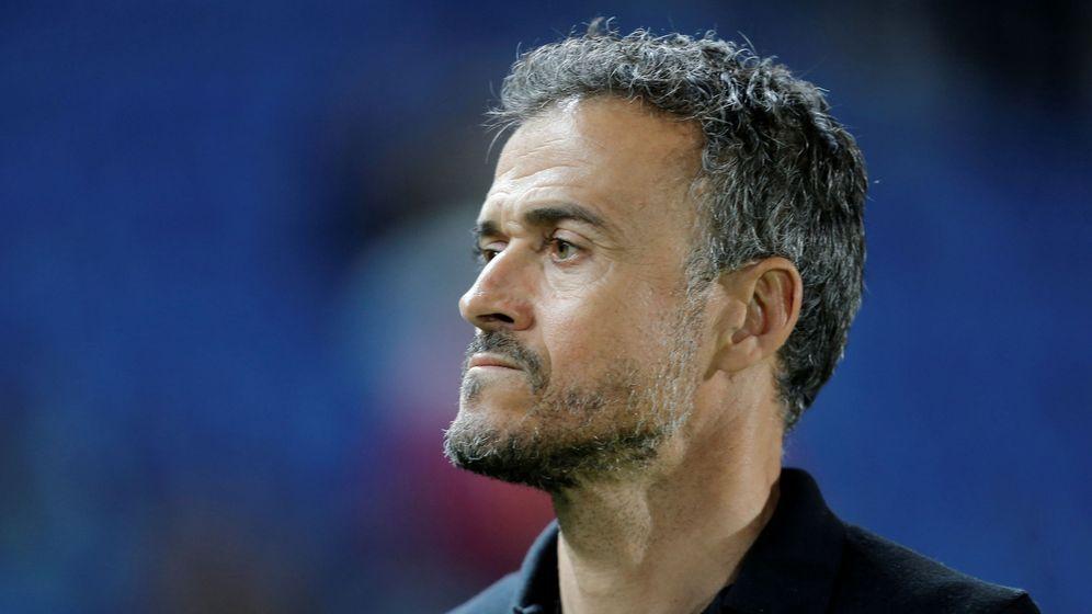 Foto: Luis Enrique, durante un partido contra Bosnia en Las Palmas. (EFE)