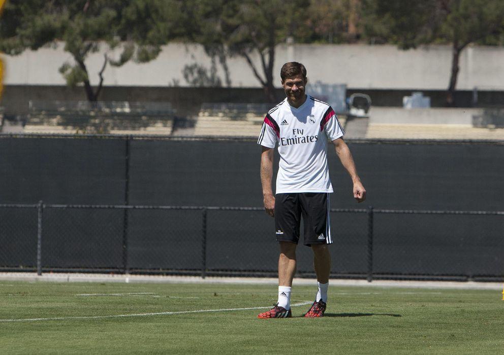 Foto: Xabi Alonso, durante la pretemporada del Real Madrid en Estados Unidos (EFE)
