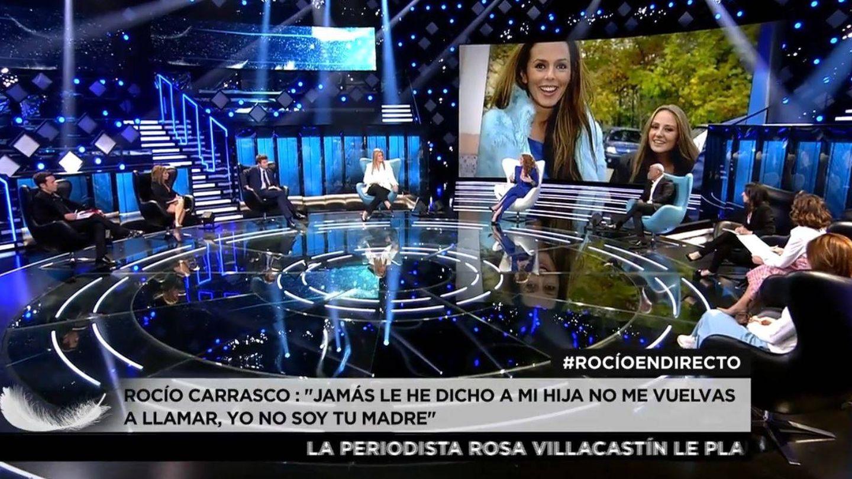 Fotograma de la entrevista a Rocío Carrasco. (Mediaset España)