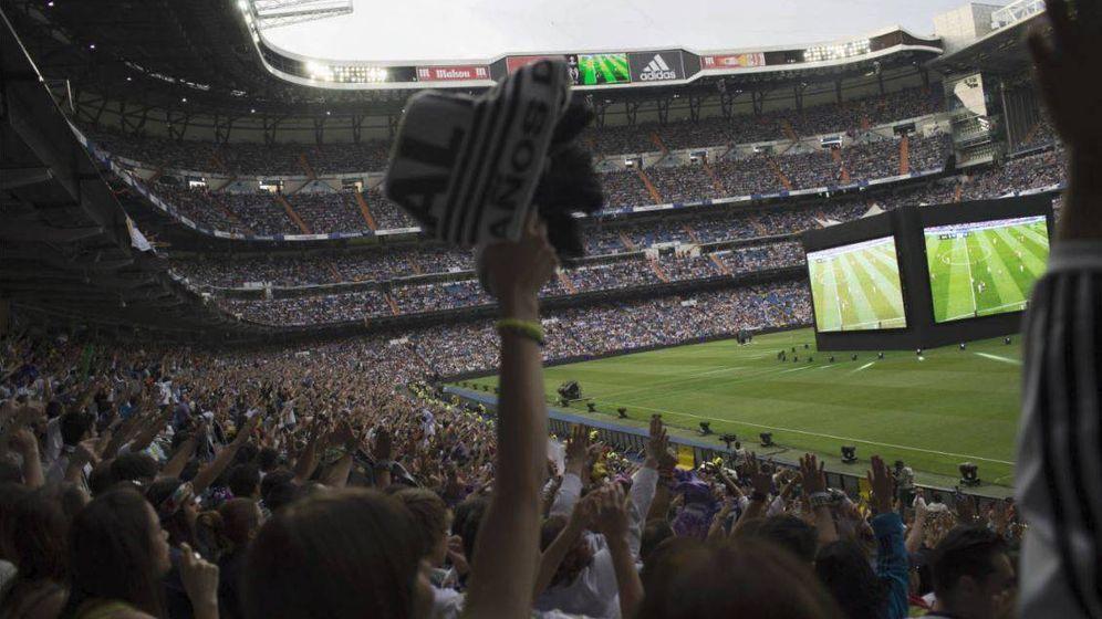 Foto: El estadio Santiago Bernabéu, durante la retransmisión de la final de la Champions en 2014   Foto: Pablo López Learte