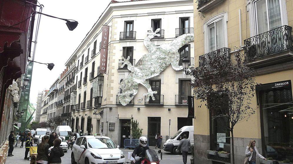 Foto: El barrio de las Letras de Madrid, situado en el distrito Centro, es uno de los que tienen mayor porcentaje de población alojada que residente. (EFE)