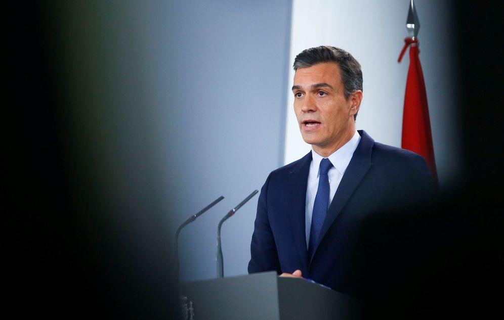 Foto: El presidente en funciones y líder del PSOE, Pedro Sánchez, este 17 de septiembre durante su rueda de prensa en la Moncloa. (Reuters)