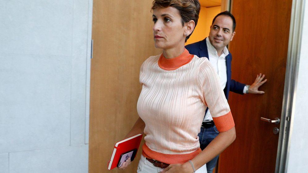 Foto: La candidata a la presidencia del Gobierno de Navarra, María Chivite (PSN). (EFE)