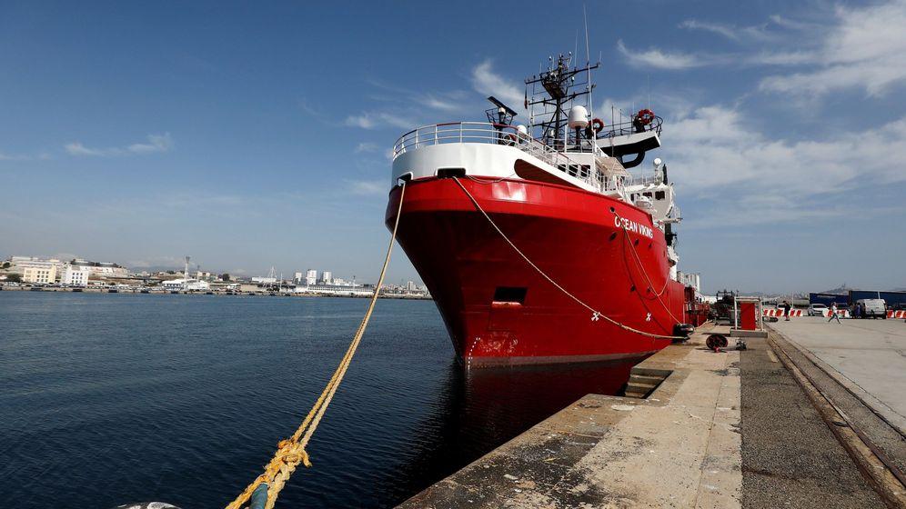 Foto: El 'Ocean Viking' en puerto. (EFE)