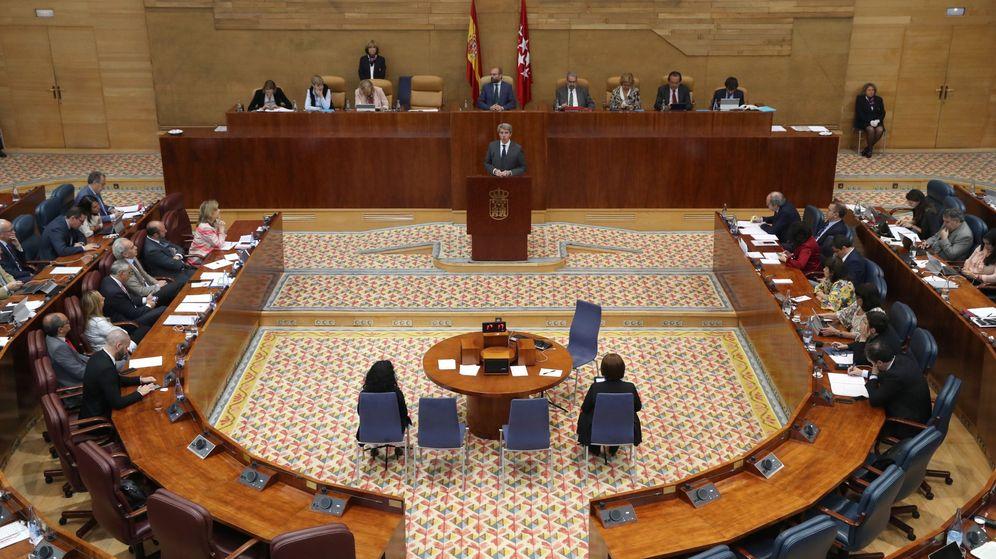 Foto: El pleno de la Asamblea de Madrid.