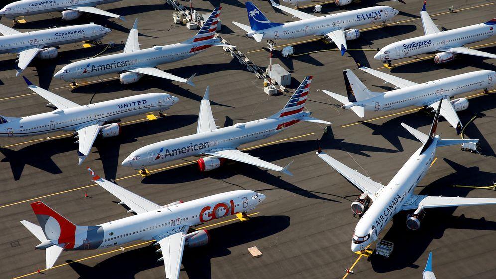 Foto: Boeing 737 Max retirados mientras se investigan y reparan los fallos. (Reuters)