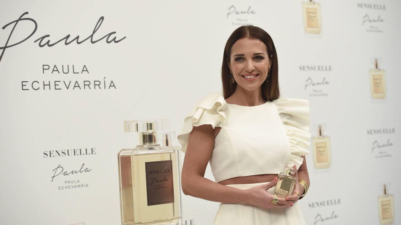 Paula Echevarría en una imagen de la presentación de su perfume. (Gtres)