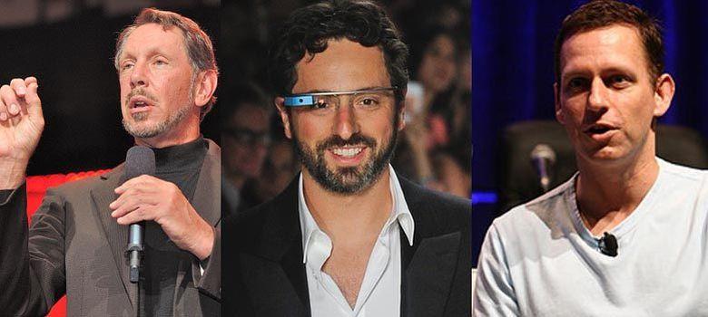 Foto: Larry Ellison (Oracle), Serge Brin (Google) y Dmitry Itskov (NewMediaStars), tres de las mayores fortunas que han subvencionado este tipo de proyectos.