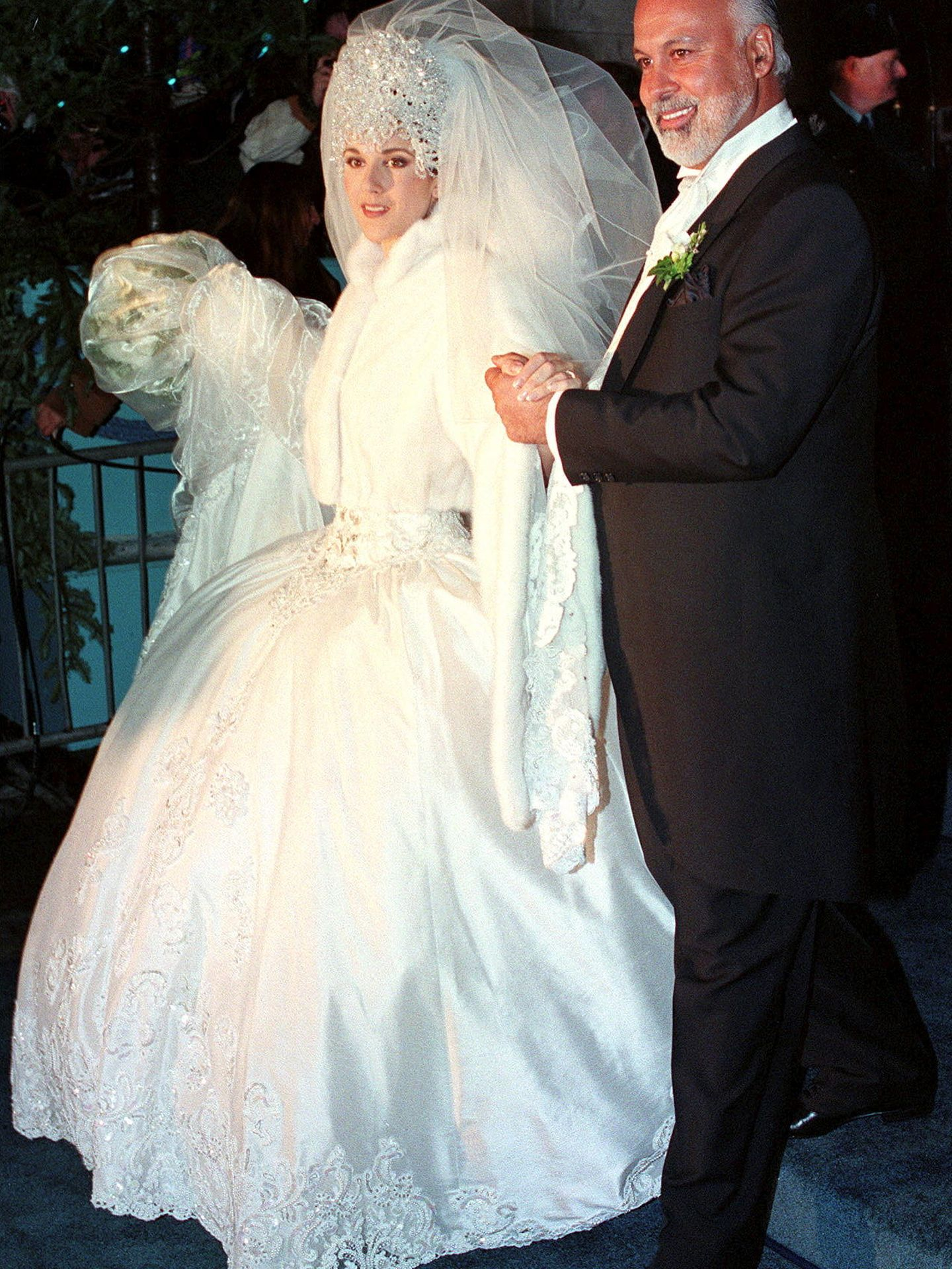 Céline Dion el día de su boda con Renè Angelil