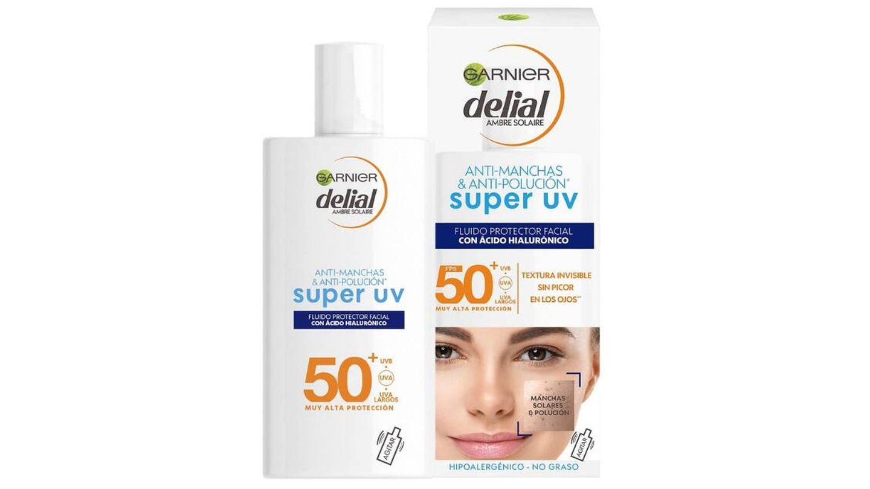 Delial Sensitive Advanced Crema Facial Super UV Fluid de Garnier Delial.
