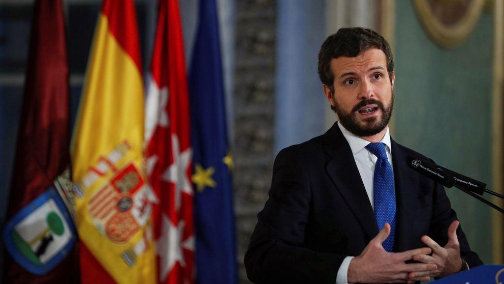 Casado se lanza a por Sánchez en defensa del servicio exterior y la Policía