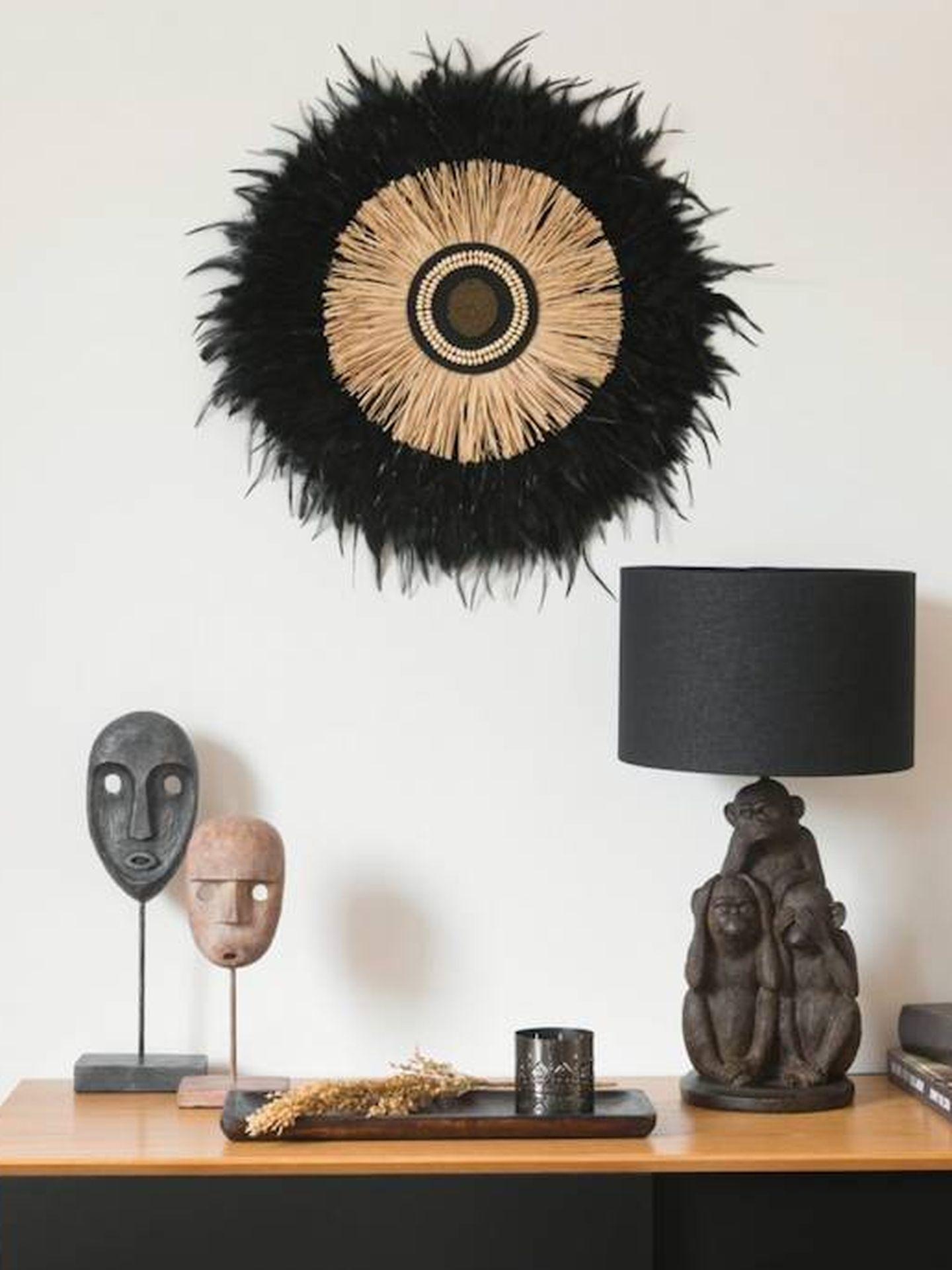 Decoración de estilo africano. (Maisons du Monde)