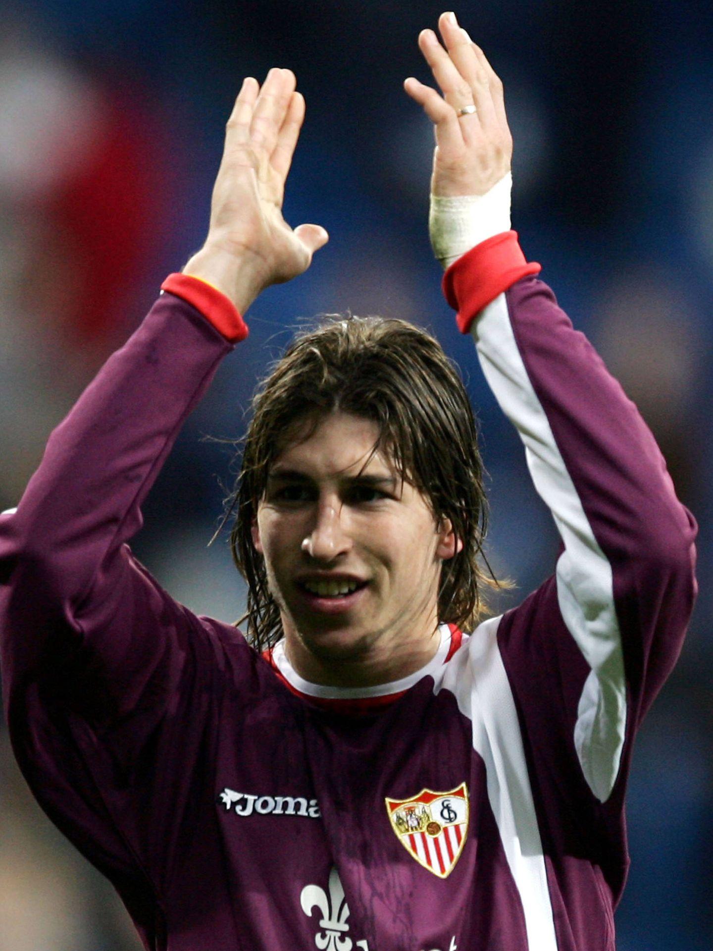 Sergio Ramos cuando aún era jugador del Sevilla F.C. en 2004. (Getty)