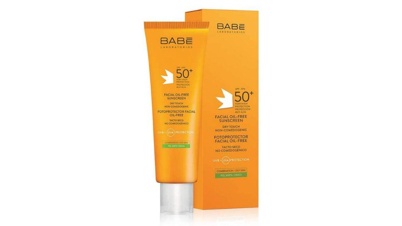 Fotoprotector Facial Oil-free SPF50 de BABÉ.