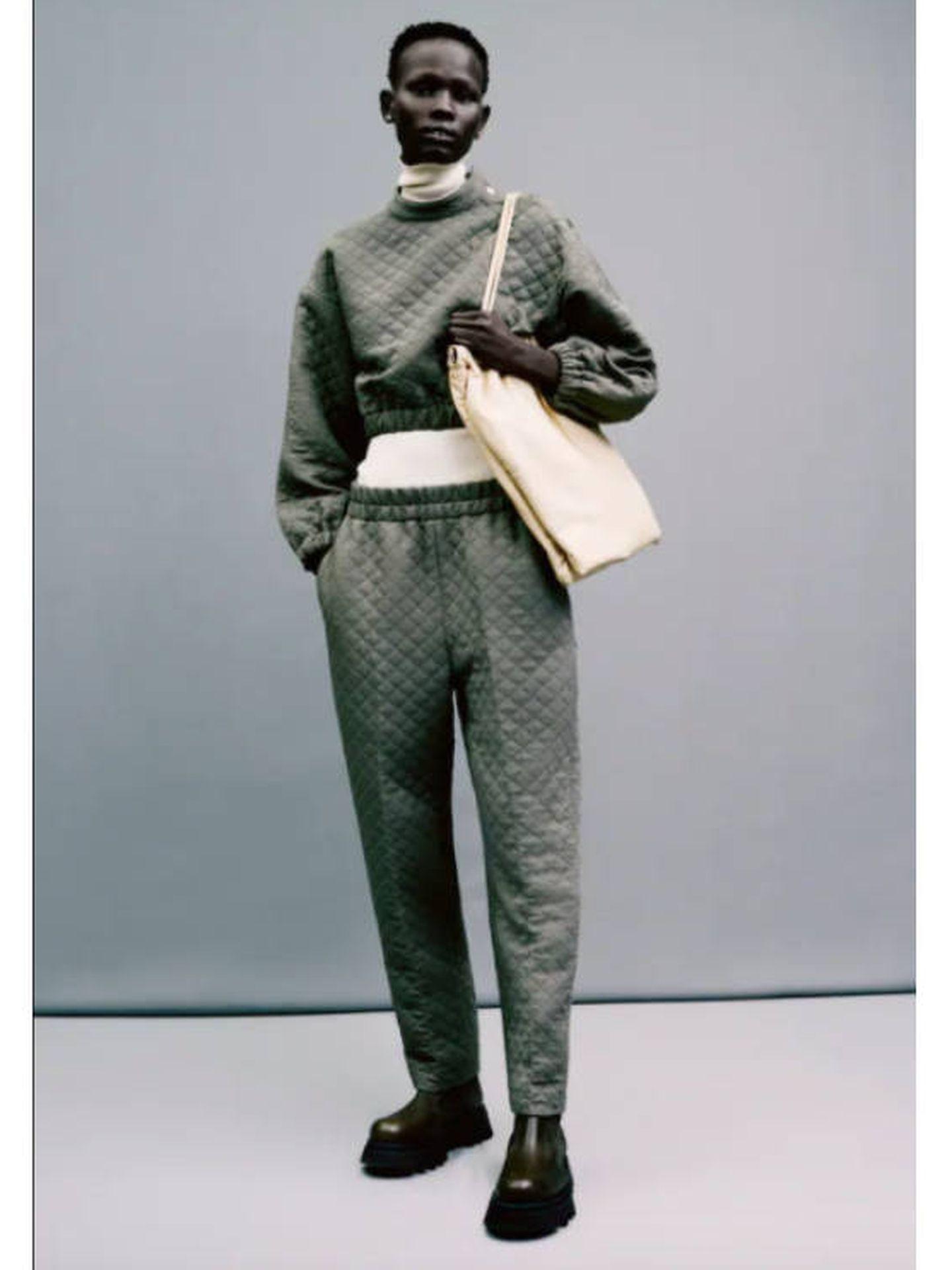 Un total look acolchado de Zara. (Cortesía)