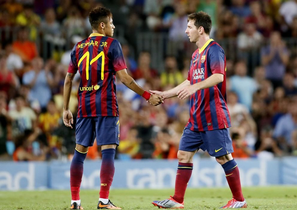 Foto: Neymar junto a Leo Messi en el Trofeo Gamper (Reuters).