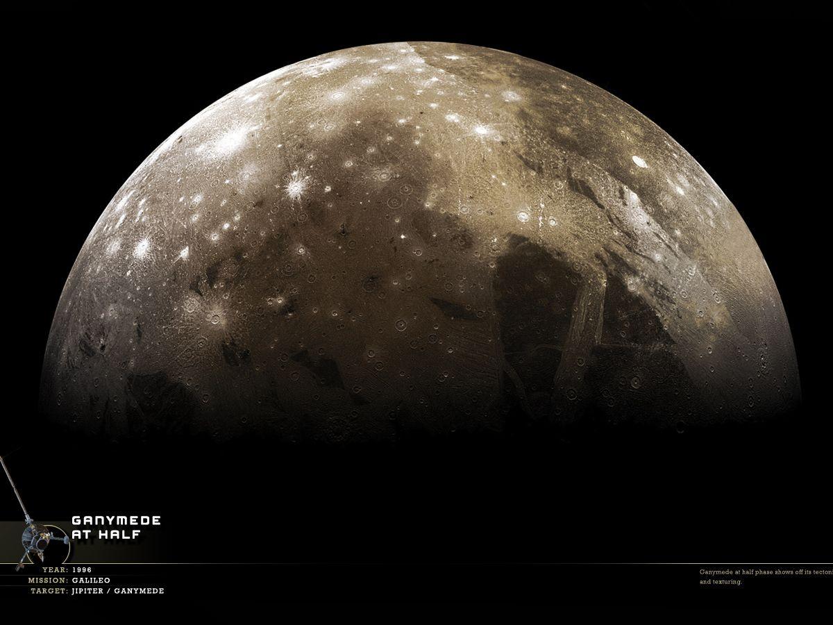 Foto: Ganímedes es uno de los satélites que serán explorados próximamente para averiguar si pudieron albergar vida. (NASA)