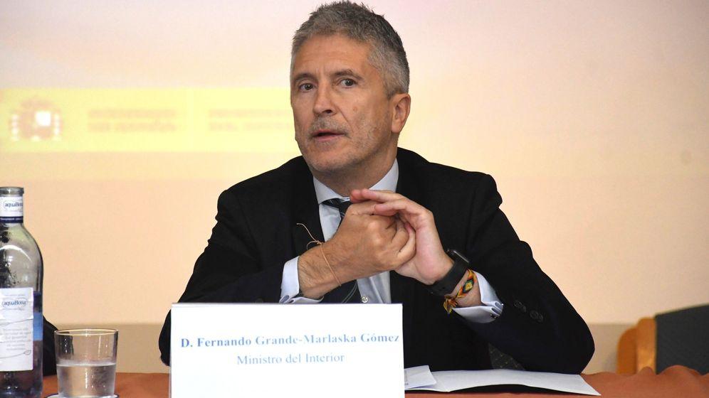 Foto: El ministro del Interior, Fernando Grande-Marlaska, en reunión anual de directores de centros penitenciarios, en octubre de 2019. (EFE)
