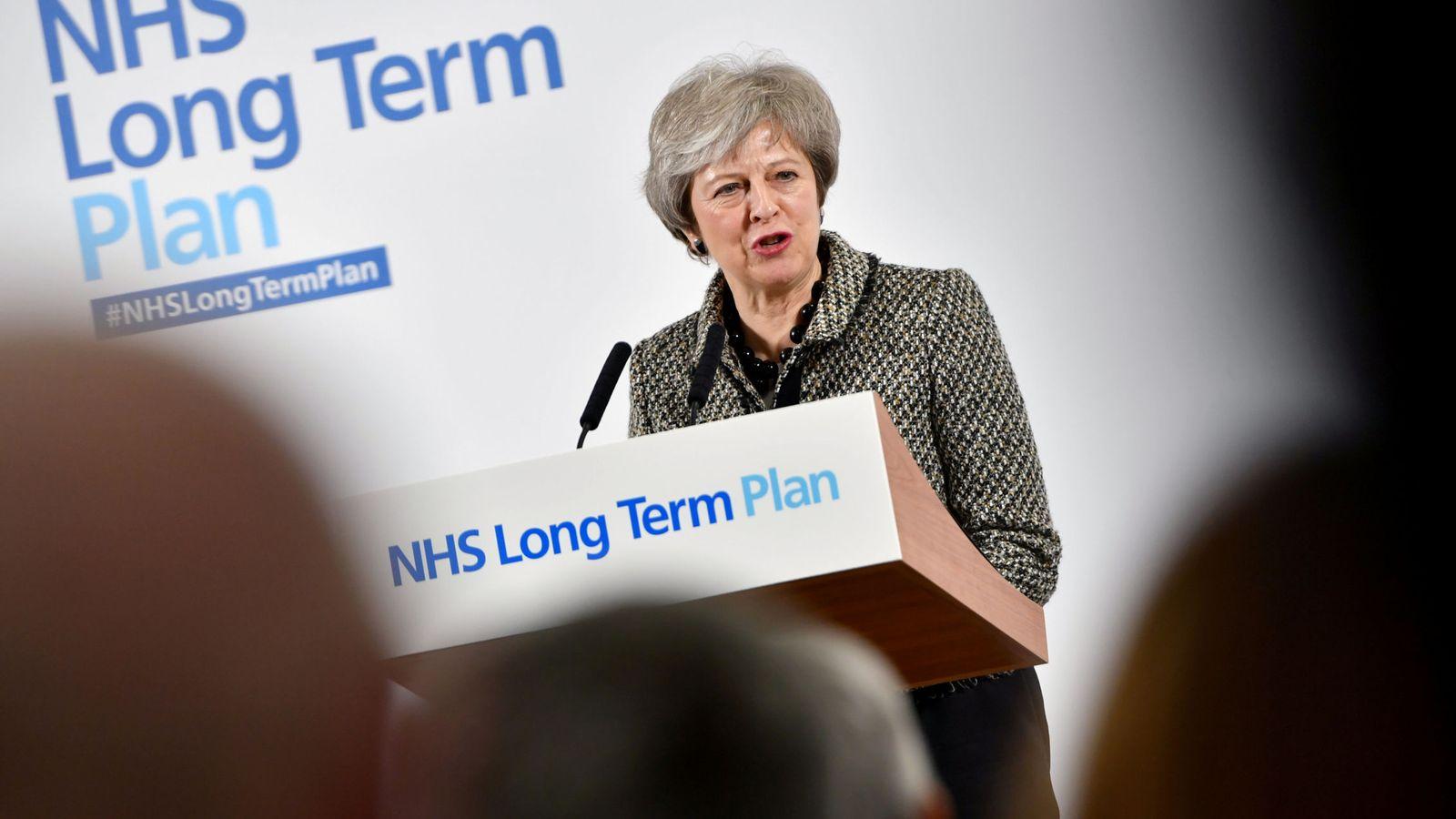 Foto: La primera ministra durante el lanzamiento del plan del NHS, en Liverpool. (Reuters)