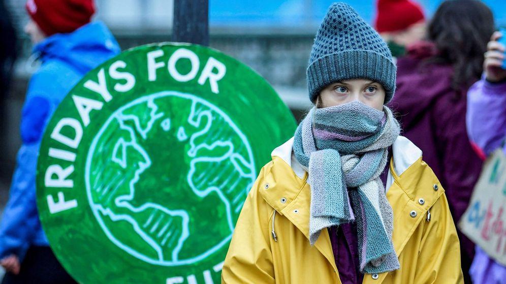 Foto: Greta Thunberg en una manifestación contra el cambio climático en Suecia. (EFE)