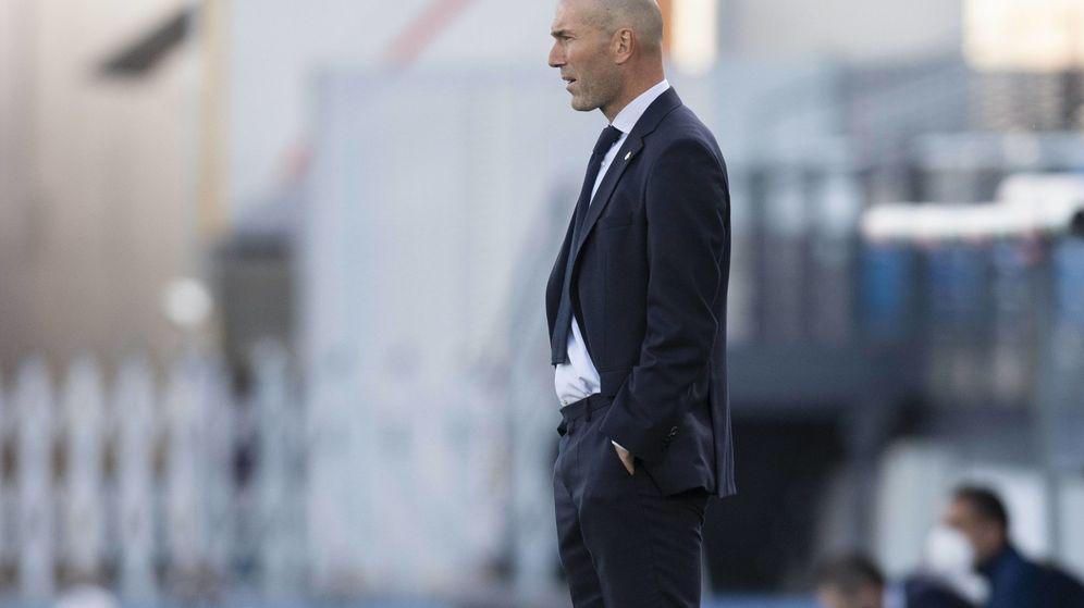 Foto: Zinedine Zidane, durante el partido.