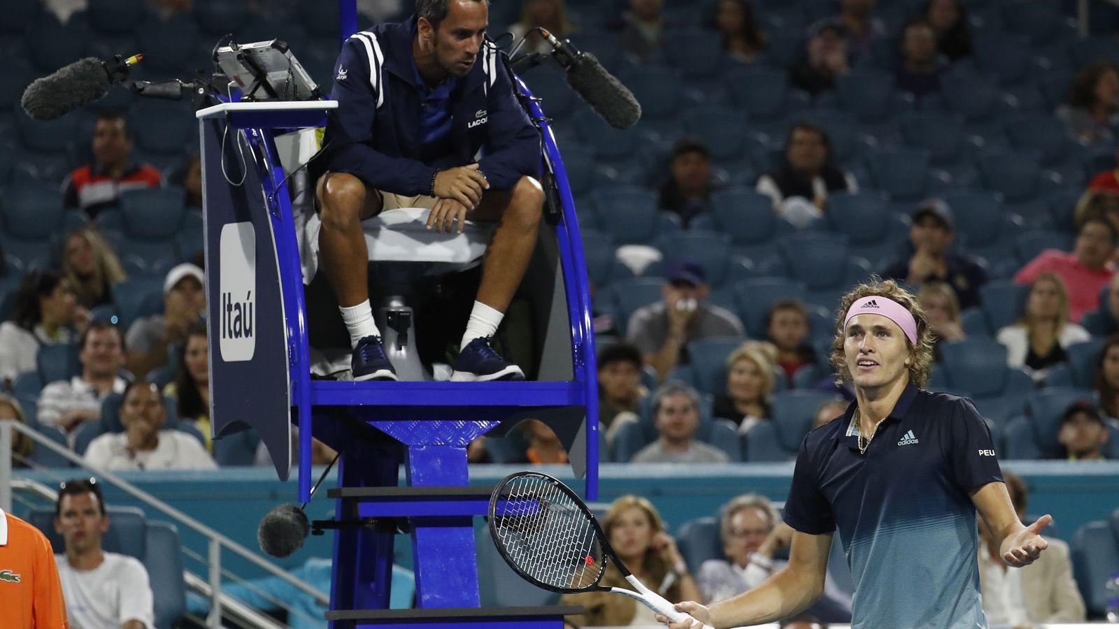 Foto: Damián Steiner durante el pasado Miami Open. (Reuters)