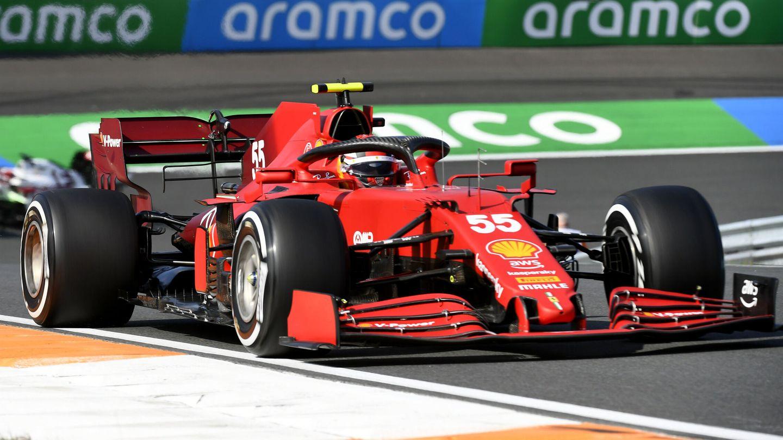 Sainz durante la sesión. (Reuters)