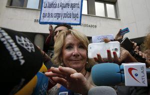 La Fiscalía insiste en que la fuga de Esperanza Aguirre fue una falta