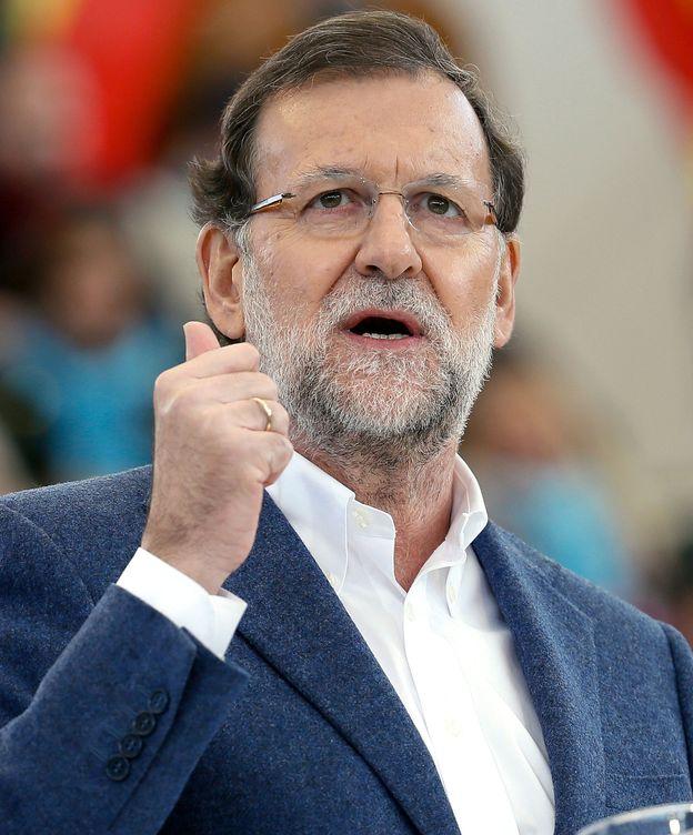 Foto: El presidente del Gobierno, Mariano Rajoy, durante un mitin de campaña. (Efe)