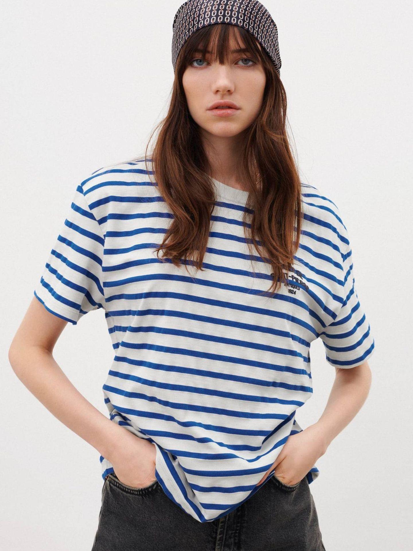 Camiseta de rayas de Zara. (Cortesía)