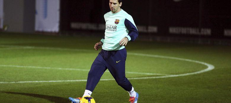 Foto: Leo Messi en su vuelta a los entrenamiento con el Barcelona (Efe).
