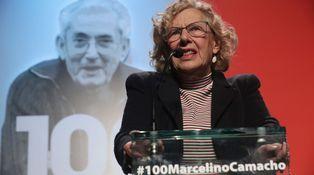 Carmena se 'estira' con Marcelino Camacho: placa, calle y estatua