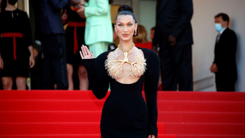 La modelo Bella Hadid, en la 74 edición del Festival de Cannes. (EFE)