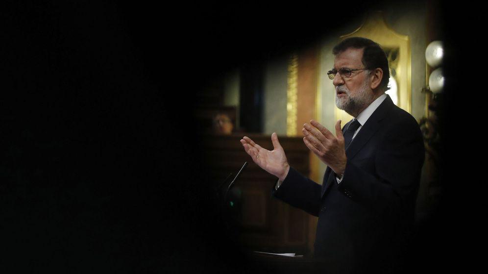 Foto: El presidente del Gobierno, Mariano Rajoy, durante su intervención en el debate de la moción de censura. (EFE)