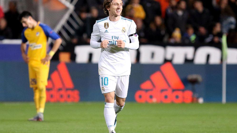 Foto: Modric celebra su gol ante el Apoel en la Champions. (EFE)