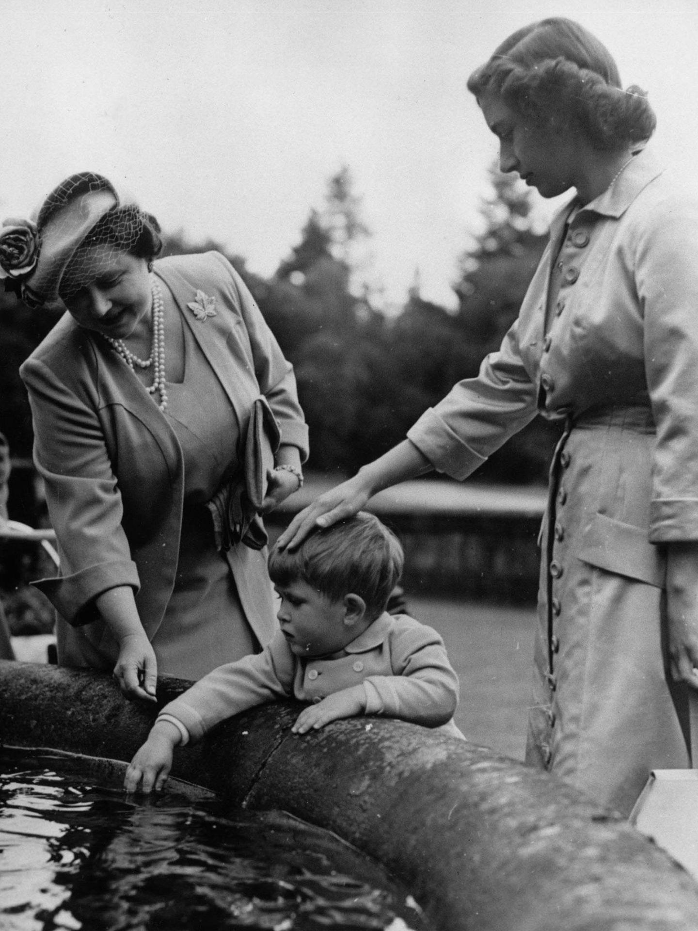 La princesa Margarita con el pequeño príncipe Carlos en una imagen de archivo. (Getty)